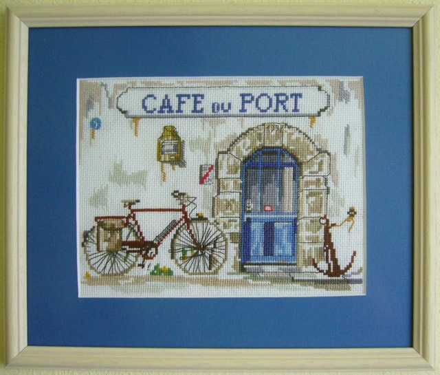 Cafe du port 24 x 28 cm